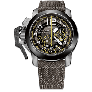 Graham Chronofighter Steel Target Grey Dial Watch