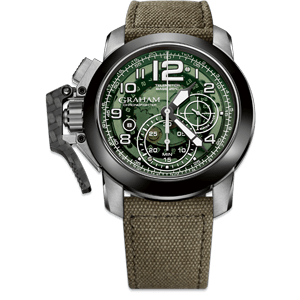 Graham Chronofighter Steel Target Green Dial Watch