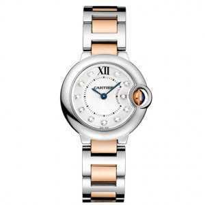 Cartier Ballon Bleu 18k Rose Gold Stainless Steel Watch