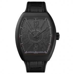"Franck Muller Vanguard "" ALL BLACK "" PVD Titanium Mens Watch"