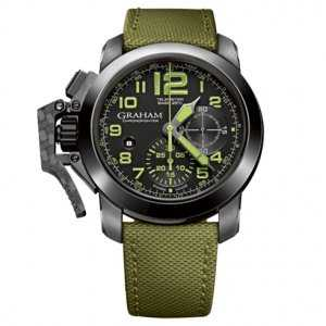 Graham Chronofighter Oversize Black Ceramic Military Watch