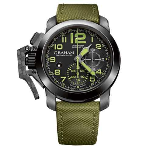 Graham Chronofighter Oversize Black Ceramic Military Watch
