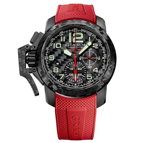 Graham Chronofighter Superlight Carbon Red Watch