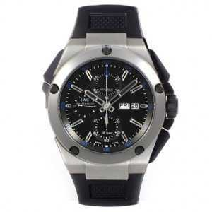 IWC Ingenieur Double Chronograph Black Dial Watch