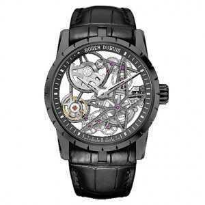 Roger Dubuis Excalibur 42 Automatic Skeleton DLC Titanium Watch