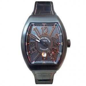 Franck Muller Vanguard Black Titanium 18K Rose Gold Watch