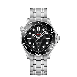 Omega Seamaster Diver 300M Co-Axial Master Chronometer Black Steel Watch