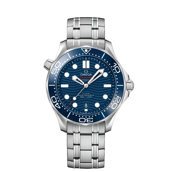 Omega Seamaster Diver 300M Co-Axial Master Chronometer Blue Steel Watch