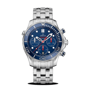 Omega Seamaster Diver 300M Co-Axial Chronograph Blue Steel Watch