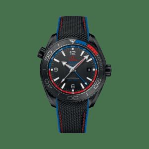 Omega Seamaster Planet Ocean 600M Co-Axial Master Chronometer GMT ETNZ Deep Black Watch
