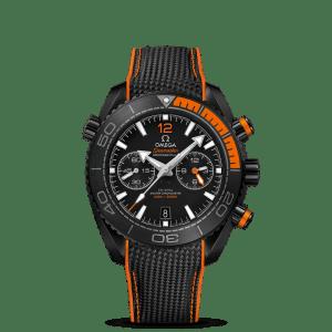 Omega Seamaster Planet Ocean 600M Co-Axial Master Chronometer Chronograph Deep Black Watch