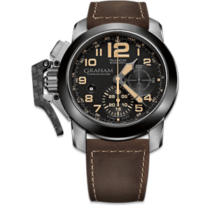Graham Chronofighter Steel Black Dial Watch