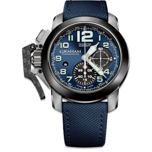 Graham Chronofighter Steel Blue Dial Watch