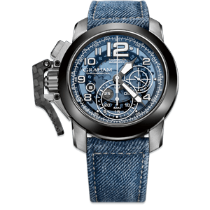 Graham Chronofighter Steel Target Blue Dial Watch