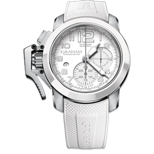 Graham Chronofighter Steel All White Watch