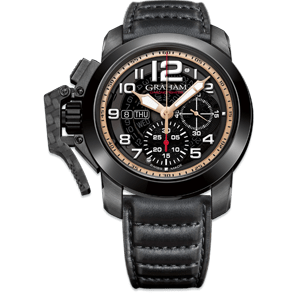 Graham Chronofighter Steel Black PVD Grey Dial Watch