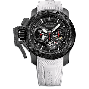 Graham Chronofighter Superlight Carbon Skeleton White Watch