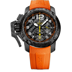 Graham Chronofighter Superlight Carbon Orange Watch