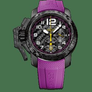 Graham Chronofighter Superlight Carbon Purple Watch