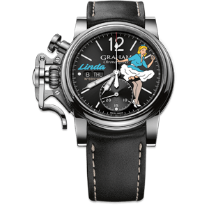 Graham Chronofighter Vintage Nose Art Linda Limited Edition Watch