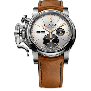Graham Chronofighter Vintage Silver Dial Watch