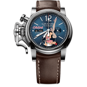 Graham Chronofighter Vintage Nose Art Chloe Limited Edition Watch