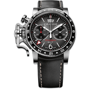 Graham Chronofighter Vintage GMT Grey Dial Watch