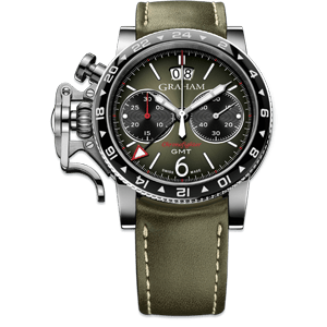 Graham Chronofighter Vintage GMT Green Dial Watch