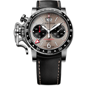 Graham Chronofighter Vintage GMT Light Grey Dial Watch