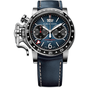 Graham Chronofighter Vintage GMT Blue Dial Watch