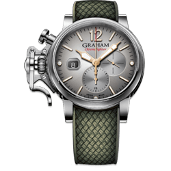 Graham Chronofighter Grand Vintage Silver Dial Watch