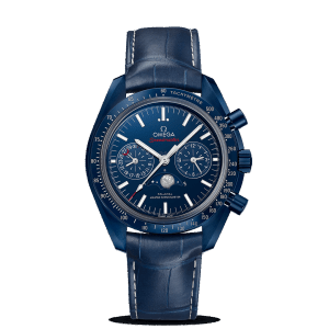 Omega Speedmaster Moonwatch Co-Axial Moonphase Chronograph Blue Side of the Moon Watch
