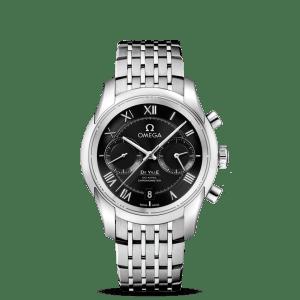 Omega De Ville Co-Axial Chronograph Black Dial Watch