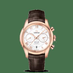 Omega De Ville Co-Axial Chronograph Silver Dial Watch