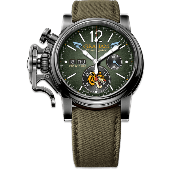 Graham Chronofighter Vintage Aircraft Flying Tigers Limited Edition Watch