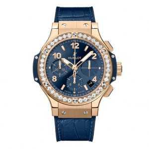 Hublot Big Bang Gold Blue Diamonds Watch