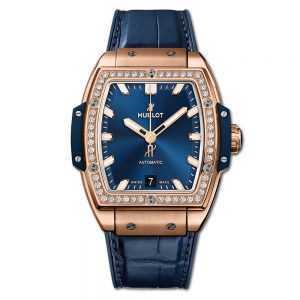 Hublot Spirit of Big Bang King Gold Blue Diamonds Watch