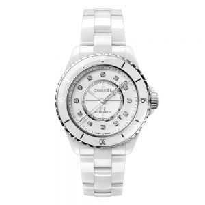 Chanel J12 White Ceramic Diamond Watch