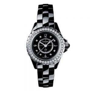 Chanel J12 Black Diamonds Watch