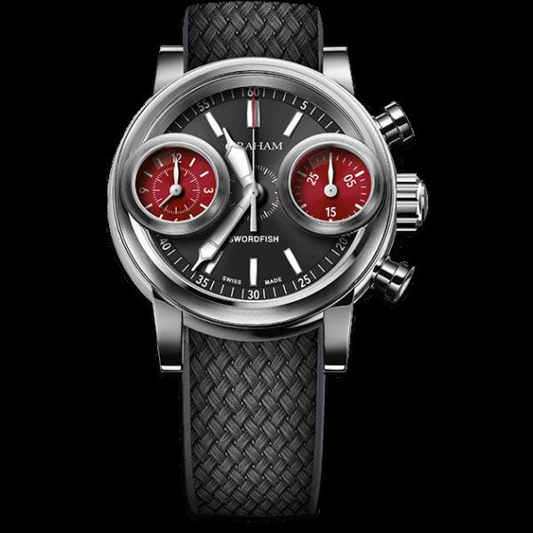 Graham Swordfish Steel Black Dial Watch