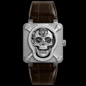 Bell & Ross BR 01 Laughing Skull Light Diamond Watch