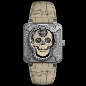 Bell & Ross BR 01 Laughing Skull White Watch