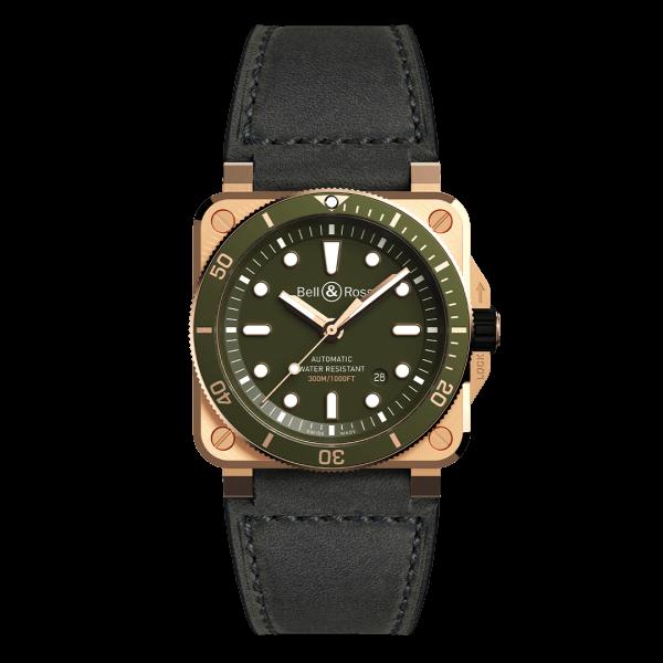 Bell & Ross BR 03-92 Diver Green Bronze Watch