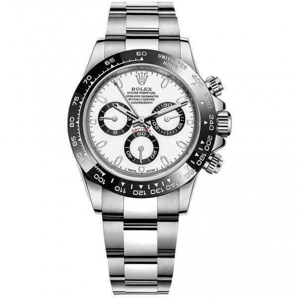 Rolex Cosmograph Daytona Steel White Dial Ceramic Bezel Watch