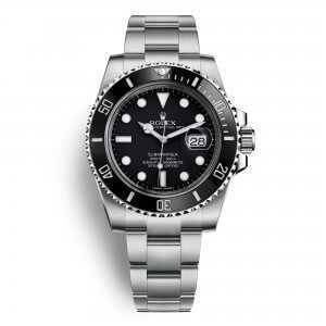 Rolex Oyster Perpetual Submariner Date Steel Black Dial Watch
