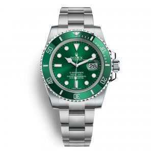 Rolex Oyster Perpetual Submariner Date Steel Green Dial Watch