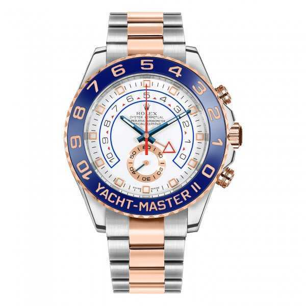 Rolex Yacht-Master II 44mm Rose Gold Steel White Dial Watch