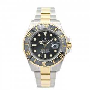 Rolex Sea-Dweller 43mm Yellow Gold Steel Black Dial Watch