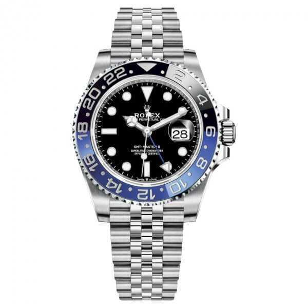 Rolex GMT Master II Steel Black Dial BATMAN Watch