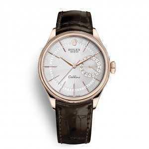 Rolex Cellini Date 39mm Rose Gold Silver Dial Watch